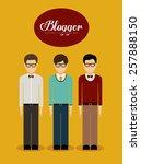 blogger design  vector... | Shutterstock .eps vector #257888150