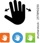 hand panning symbol for...