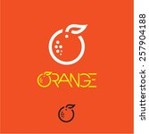 orange icon. mandarin icon.... | Shutterstock .eps vector #257904188