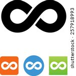 infinity icon | Shutterstock .eps vector #257918993