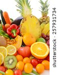 fresh vegetables with fruits  | Shutterstock . vector #257931734