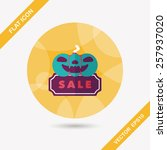halloween sale flat icon with... | Shutterstock .eps vector #257937020
