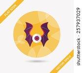 eye with bat wings flat icon...   Shutterstock .eps vector #257937029
