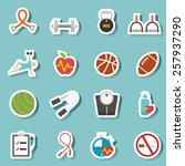 illustration of health and... | Shutterstock .eps vector #257937290