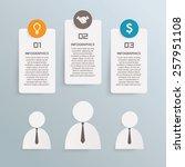 business info graphic vector... | Shutterstock .eps vector #257951108