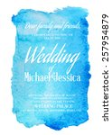 wedding invitation card with... | Shutterstock .eps vector #257954879