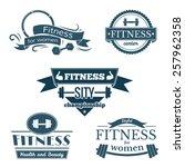 Fitness Signs Set  Sport Logos...
