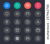 setting line icons   Shutterstock .eps vector #257962700