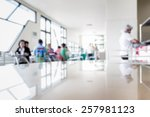 Stock photo abstract of blurred people in the cafeteria 257981123