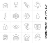 smart home and smart house line ...   Shutterstock .eps vector #257992169