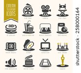 movie and cinema industry icon... | Shutterstock .eps vector #258000164