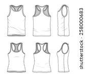 men's and women's clothing set  ... | Shutterstock .eps vector #258000683