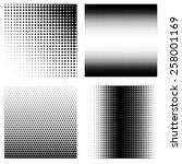 set of halftone patterns  | Shutterstock .eps vector #258001169