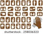 illustration depicting icons... | Shutterstock .eps vector #258036323