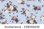 seamless floral pattern with... | Shutterstock . vector #258040640