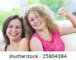 portrait of two young happy... | Shutterstock . vector #25804384