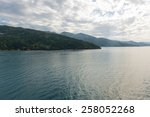 A cloudy afternoon off the north coast of Haiti - stock photo
