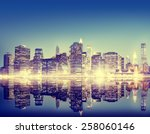 building skyscraper panoramic... | Shutterstock . vector #258060146