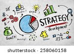strategy development goal... | Shutterstock . vector #258060158