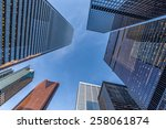 office towers in the downtown... | Shutterstock . vector #258061874