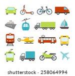 collection of icons related to... | Shutterstock .eps vector #258064994