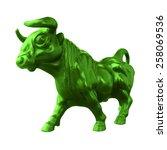 bull  symbol of finance bull... | Shutterstock . vector #258069536