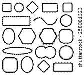 scalloped frames set  vector | Shutterstock .eps vector #258081323