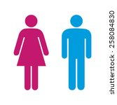 toilet signs | Shutterstock .eps vector #258084830