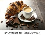 Fresh And Tasty Croissants Wit...