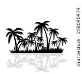 palm trees.vector   Shutterstock .eps vector #258090974