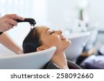 beauty and people concept  ... | Shutterstock . vector #258092660