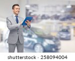 Business  People  Car Sale And...