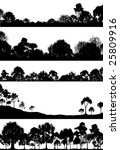 set of foregrounds of woodlands.... | Shutterstock . vector #25809916