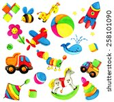 toy background for children.... | Shutterstock . vector #258101090