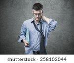 confused untidy businessman...