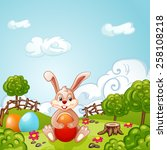 easter holidays background | Shutterstock .eps vector #258108218