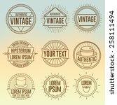 linear hipster badges symbols... | Shutterstock .eps vector #258111494