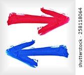 set of watercolor arrows.... | Shutterstock .eps vector #258118064