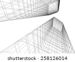 abstract architectural... | Shutterstock .eps vector #258126014