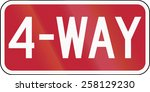 united states traffic sign  4... | Shutterstock . vector #258129230