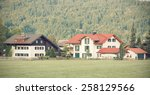 street with traditional country ...   Shutterstock . vector #258129566