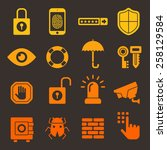 security bright color icons... | Shutterstock .eps vector #258129584