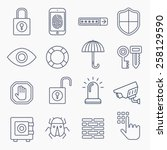 security line icons isolated on ... | Shutterstock .eps vector #258129590
