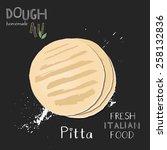 pita bread illustration.   Shutterstock .eps vector #258132836
