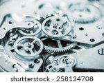 clock mechanism made in the... | Shutterstock . vector #258134708
