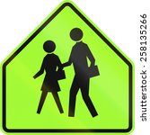 united states school warning... | Shutterstock . vector #258135266