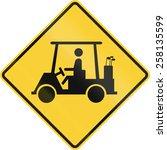 Us Road Warning Sign  Golf Car...