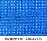 blue textured pattern on fabric | Shutterstock . vector #258161690