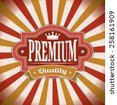 vintage retro promotion vector... | Shutterstock .eps vector #258161909