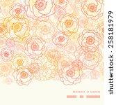 vector warm flowers horizontal... | Shutterstock .eps vector #258181979